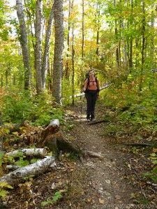Astrid Bryce on the Superior Hiking Trail